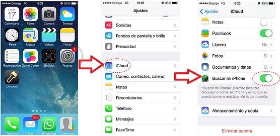 activar la opción de buscar mi iphone