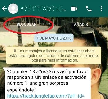 bloquear numero en whatsapp