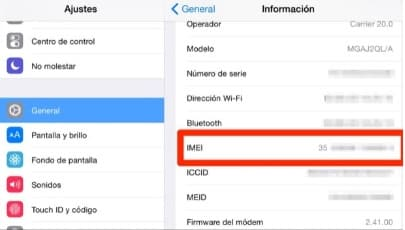averiguar imei en un iphone
