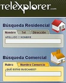 directorio telexplorer